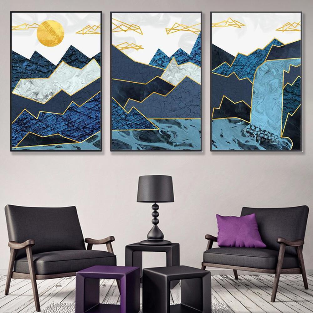 Abstract Waterfall Canvas Wall Art