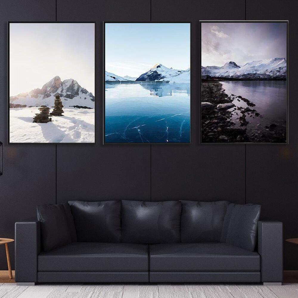Arctic Landscape Canvas Wall Art