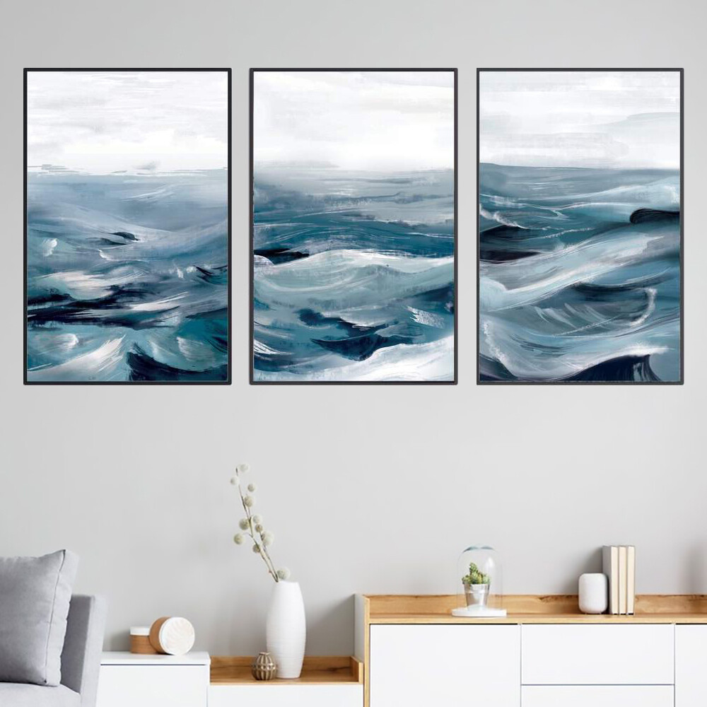 The Brushed Ocean Canvas Wall Art