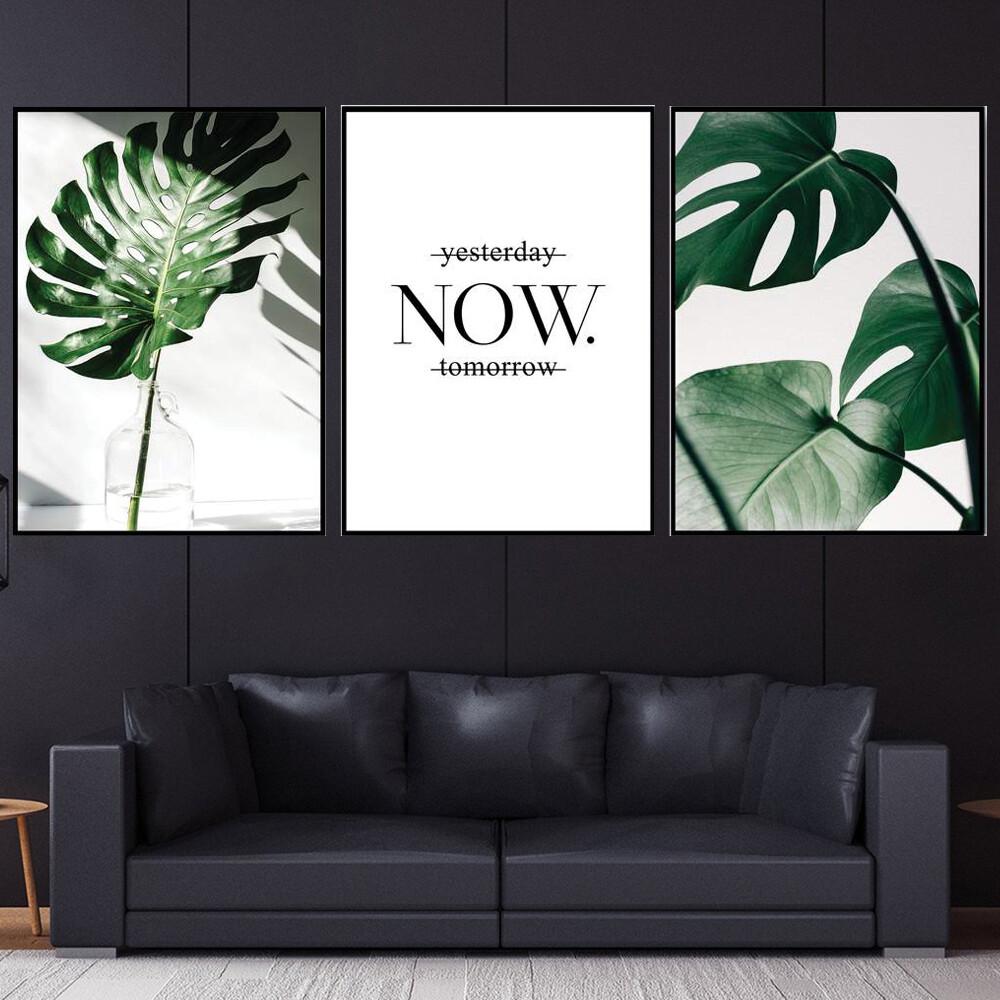 Tropical Leaf Canvas Wall Art