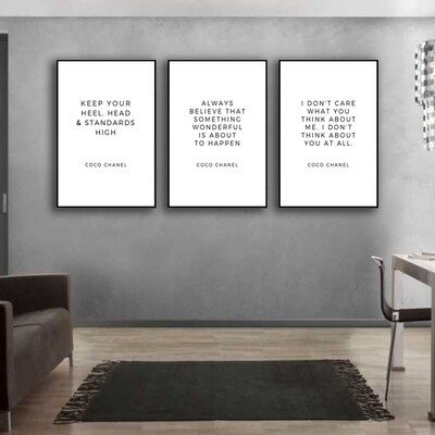 CoCo Quotes Canvas Wall Art