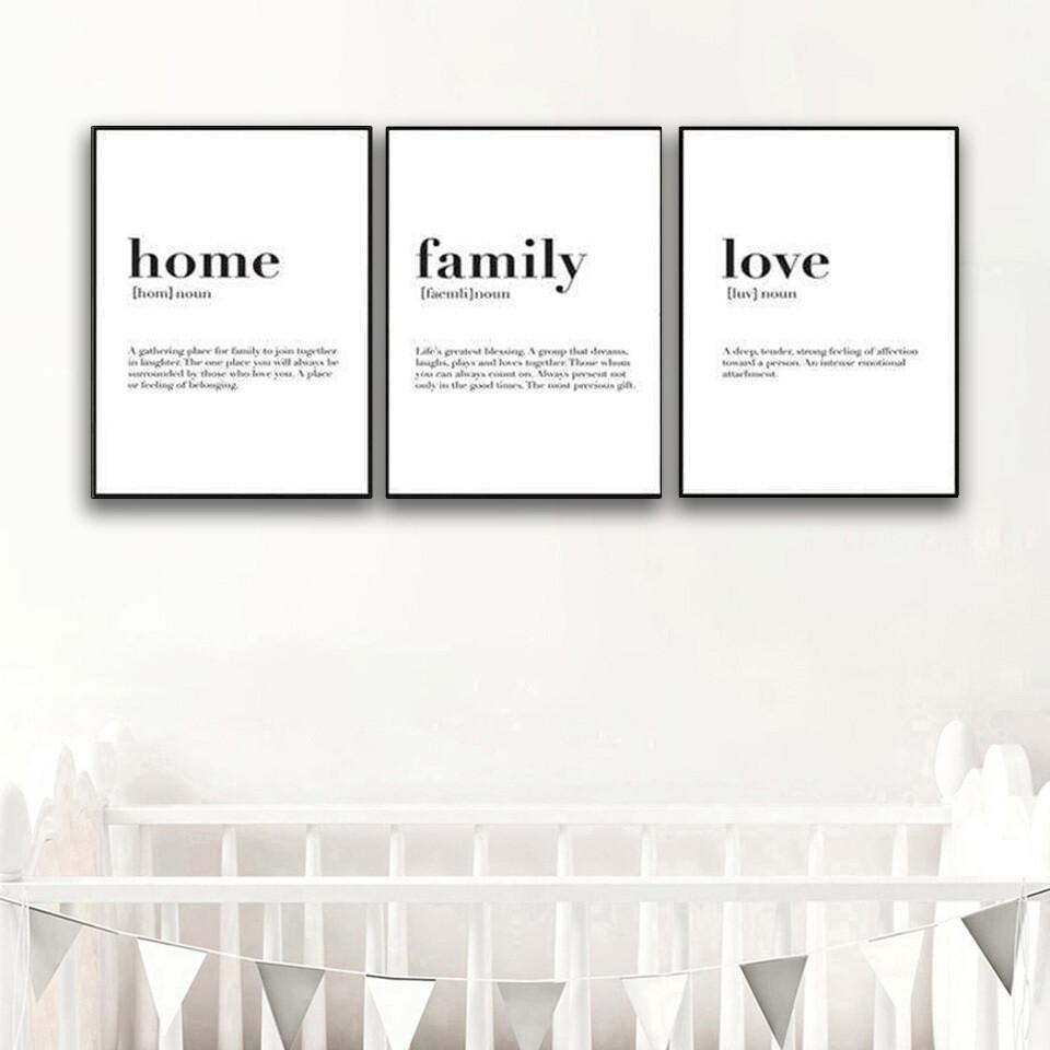 Home Family Love Canvas Wall Art