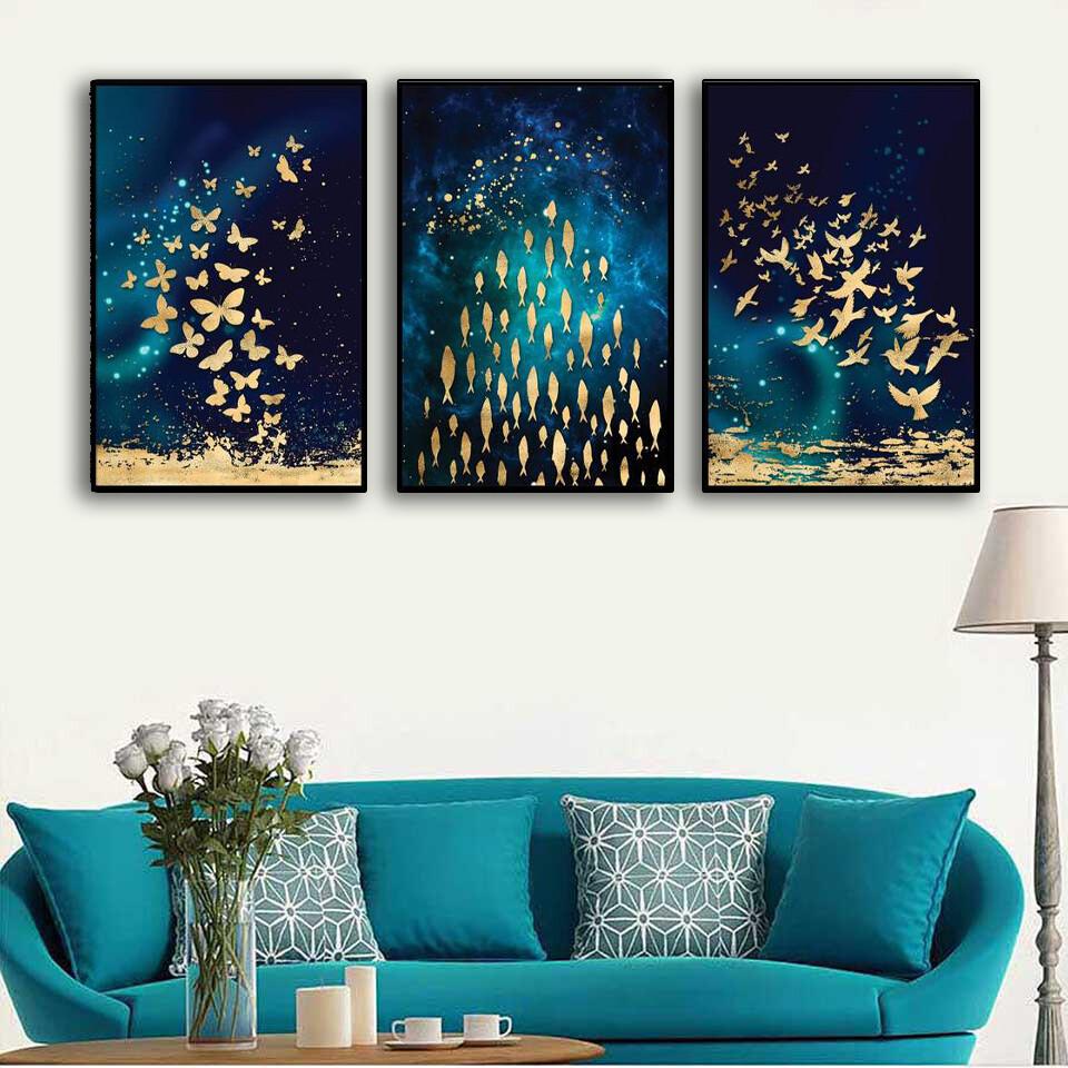 The Golden Array Canvas Wall Art