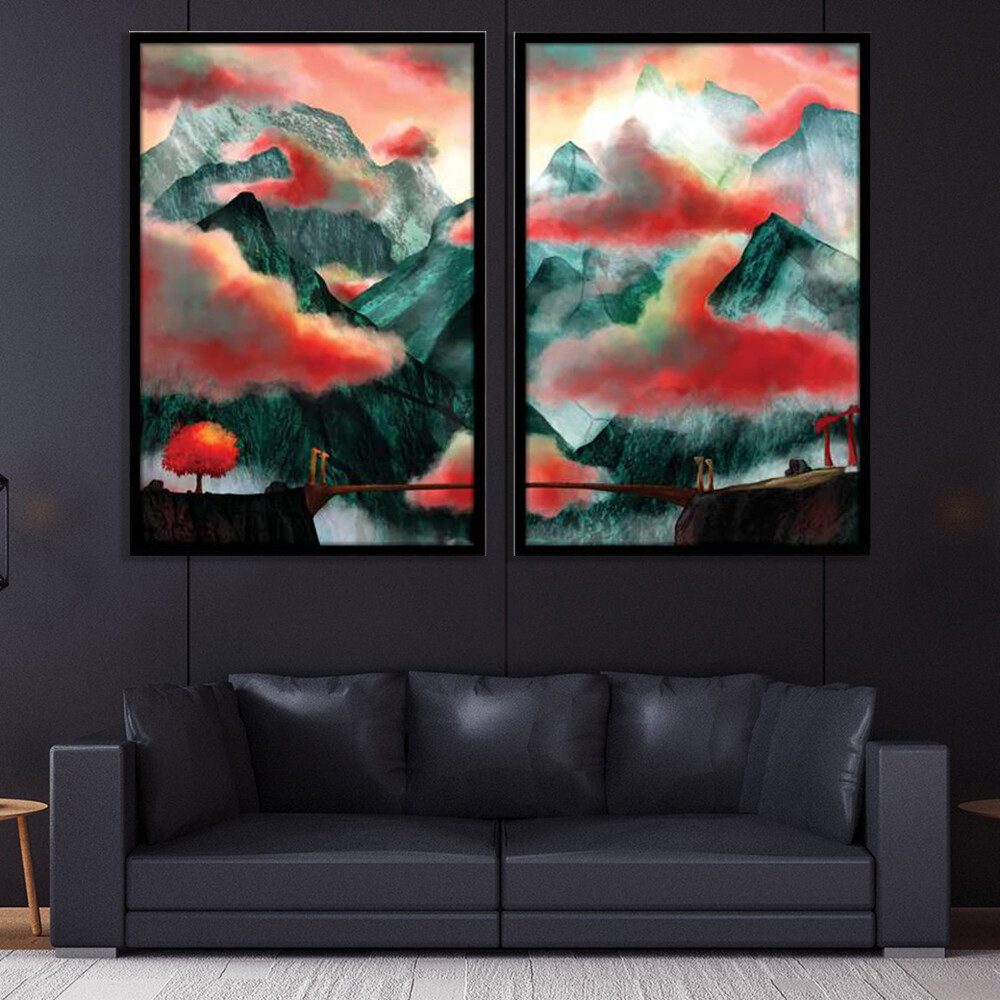 Mystic Temple Canvas Wall Art