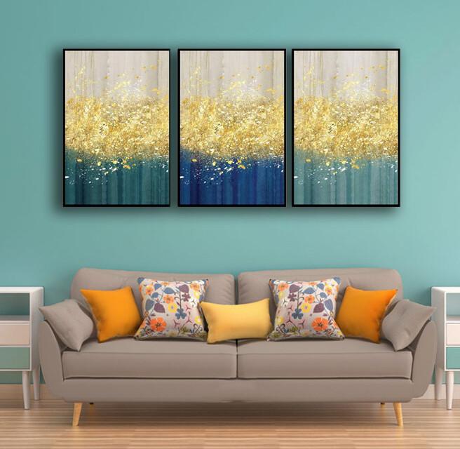 The Golden Splash Canvas Wall Art