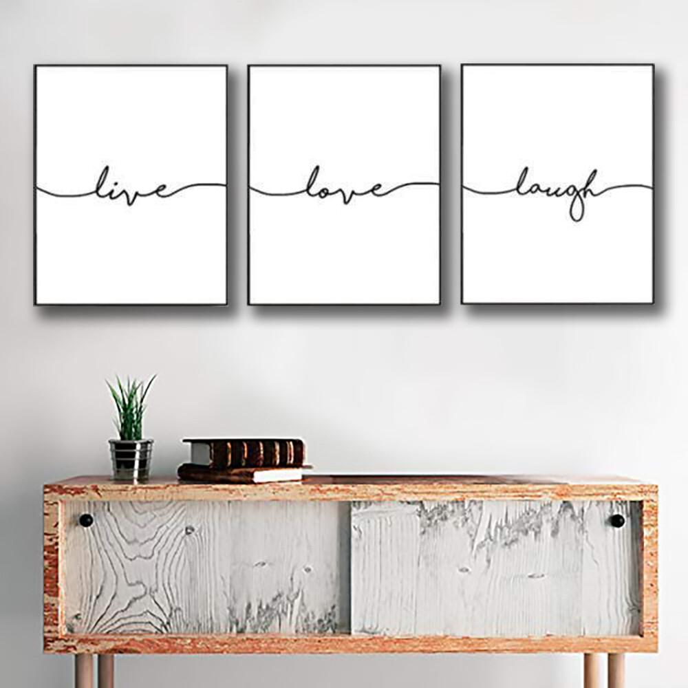 Live Laugh Love Canvas Wall Art