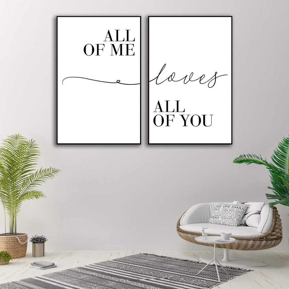 All of Me Canvas Wall Art