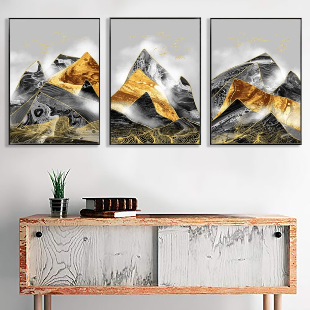 Contrasting Mountains Canvas Wall Art