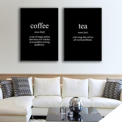 Coffee and Tea Canvas Canvas Wall Art