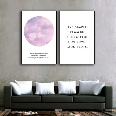 Above the Clouds Canvas Wall Art