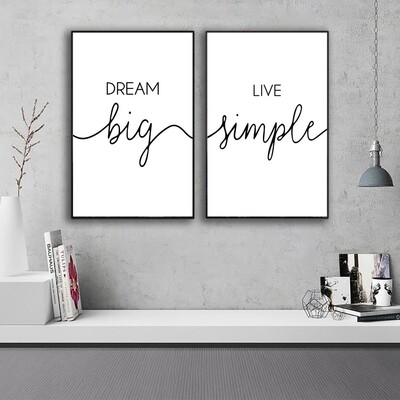 Dream Big Canvas Wall Art