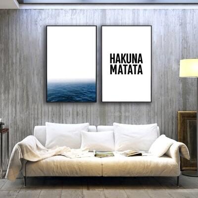 Hakuna Matata Canvas Wall Art