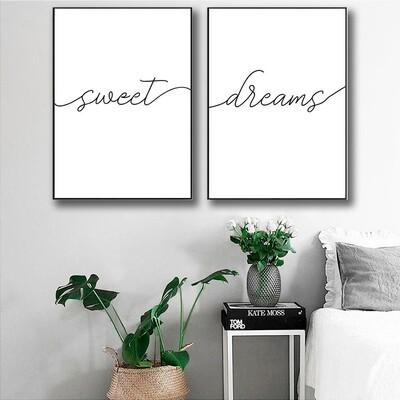 Sweet Dreams Canvas Wall Art