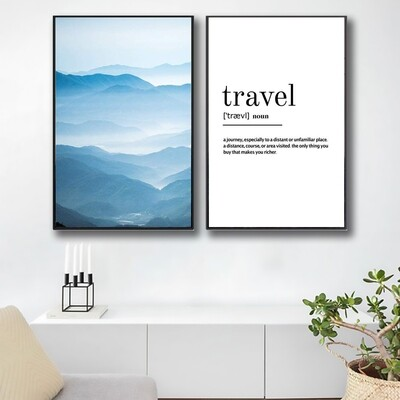 Travel Definition Canvas Wall Art