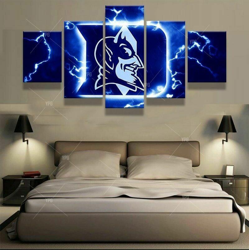 Duke Blue Devils - 5 Panel Canvas Print Wall Art Set
