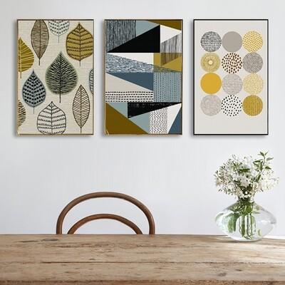 Abstract Geometric Decorative Canvas Wall Art