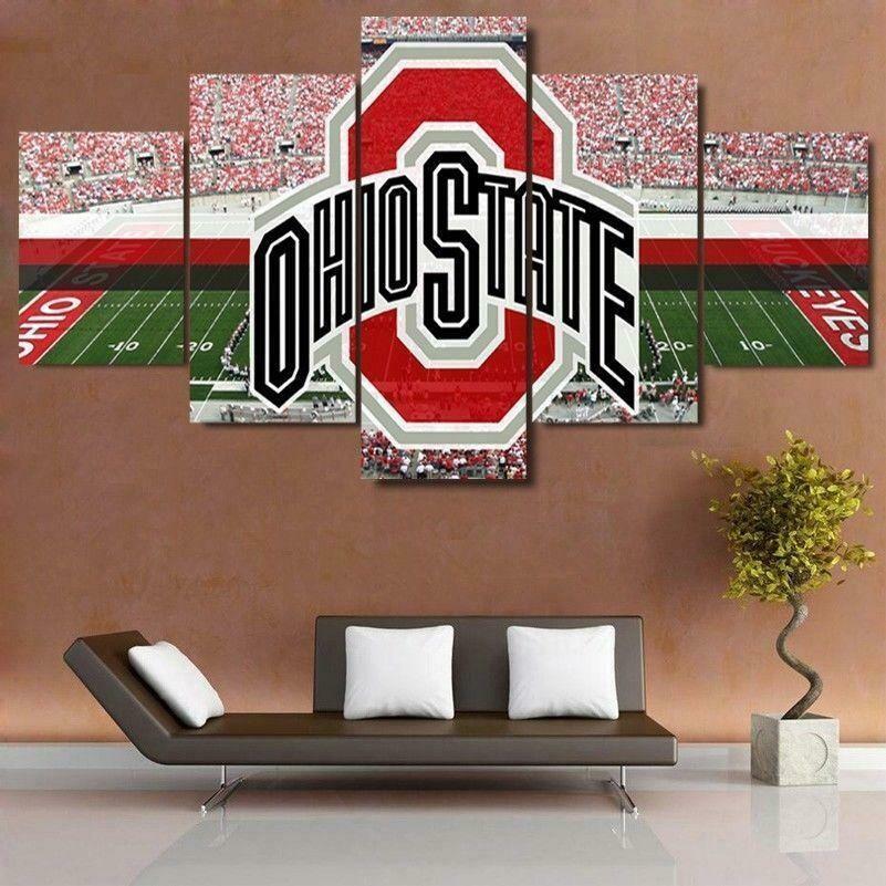 Ohio State Stadium Sport - 5 Panel Canvas Print Wall Art Set