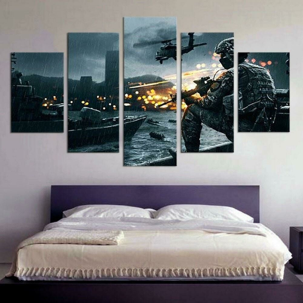 Call Of Duty - 5 Panel Canvas Print Wall Art Set