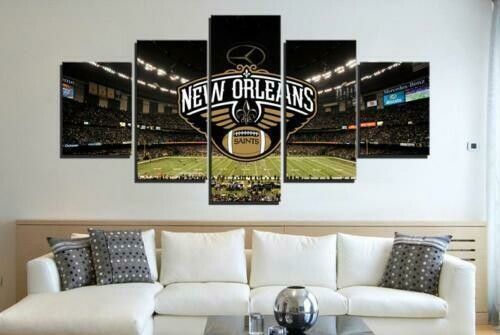 New Orleans Saints Stadium - 5 Panel Canvas Print Wall Art Set
