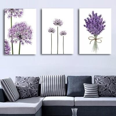 Purple Lavender Flower Canvas Wall Art