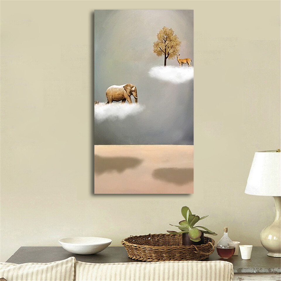 New Chinese Style 4 Gold Boat Canvas Wall Art