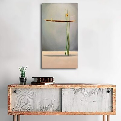 New Chinese Style 2 Gold Boat Canvas Wall Art