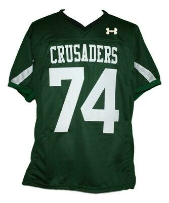 #74 Crusaders The Blind Side Movie Michael Oher Football Jersey Green