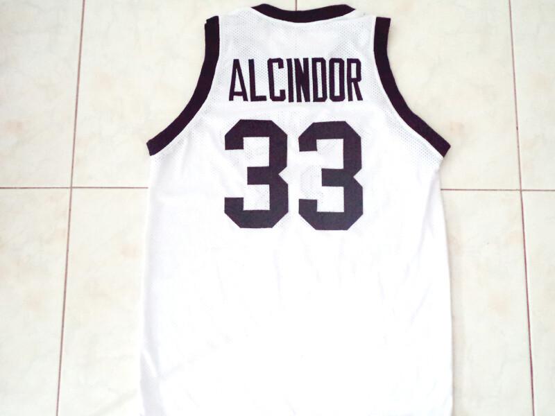 Alcindor #33 Power High School Abdul Jabbar Basketball Jersey White
