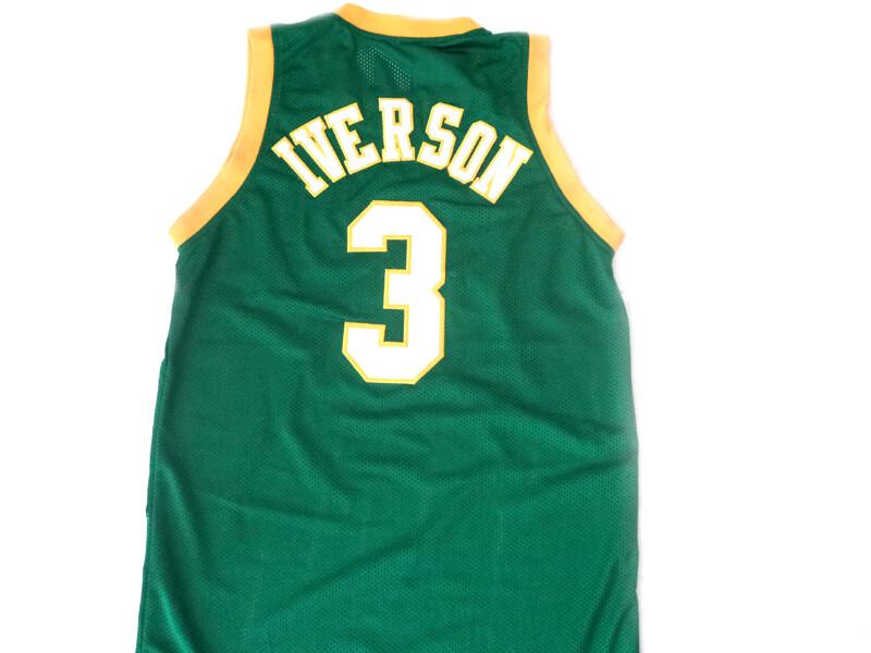 Allen Iverson #3 Bethel High School Basketball Jersey Green