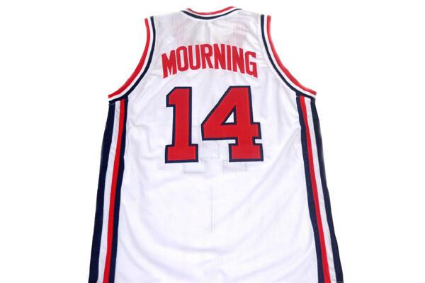 Alonzo Mourning #14 Team USA Basketball Jersey White