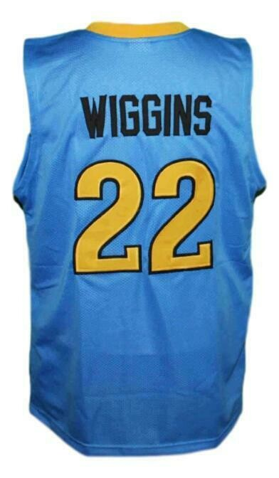 Andrew Wiggins #22 Huntington Prep Basketball Jersey Sewn Blue