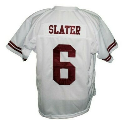 AC Slater #6 Saved By The Bell Football Jersey White