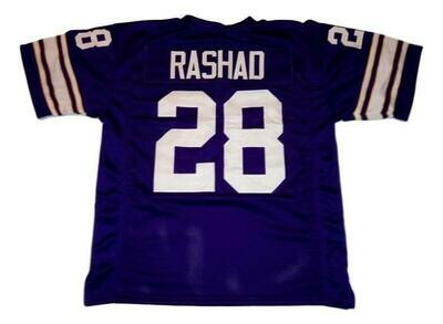 Ahmad Rashad CUSTOM STITCHED Unsigned Football Jersey Purple