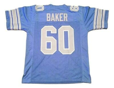 Al Baker CUSTOM STITCHED Unsigned Football Jersey Light Blue