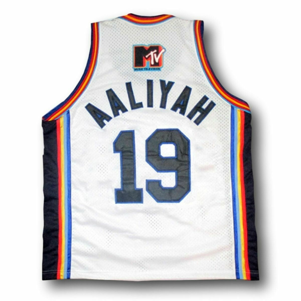 Aaliyah #19 BrickLayers Rock N' Jock Basketball Jam Jersey White