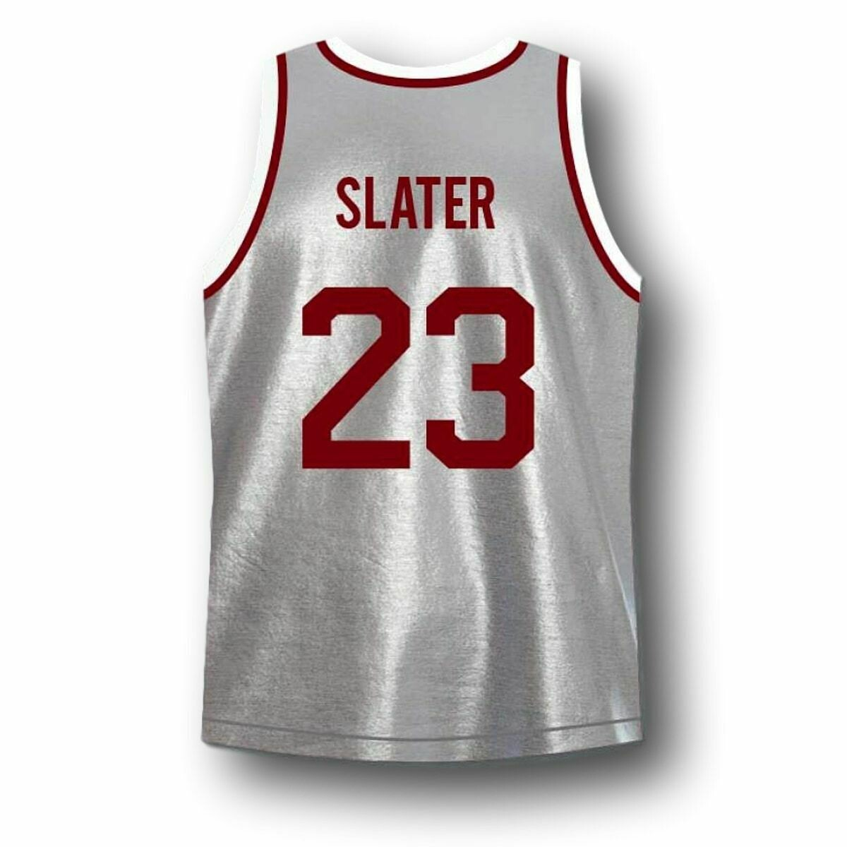 AC Slater #23 Bayside Saved By The Bell Basketball Jersey Grey