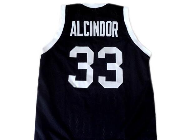 Alcindor #33 Power High School Abdul Jabbar Basketball Jersey Black