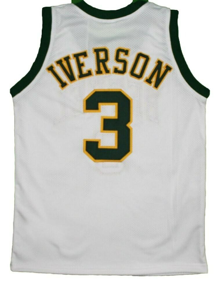 Allen Iverson #3 Bethel High School New Basketball Jersey White
