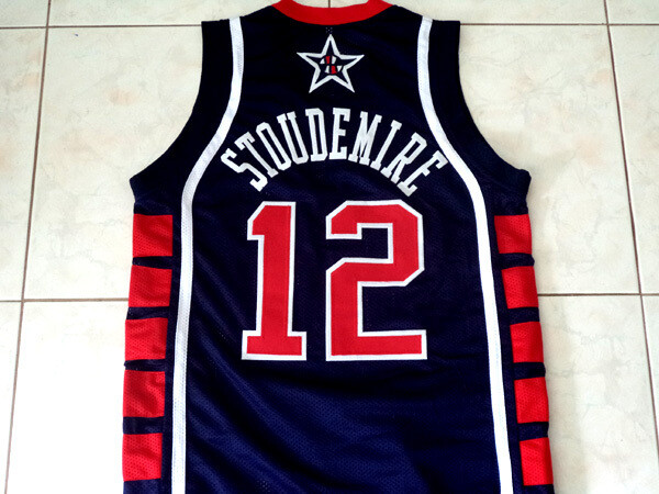 Amare Stoudemire #12 Team USA Basketball Jersey Navy Blue