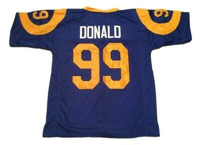 Aaron Donald CUSTOM STITCHED Unsigned Football Jersey Blue