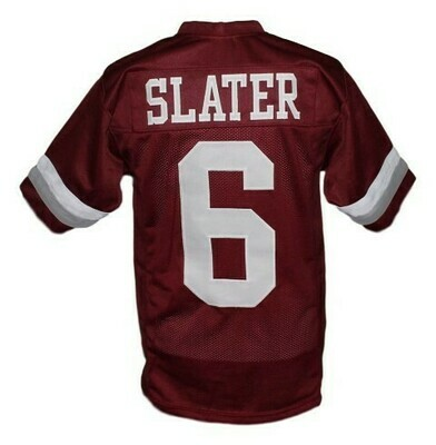 AC Slater #6 Bayside Saved By The Bell Football Jersey Maroon