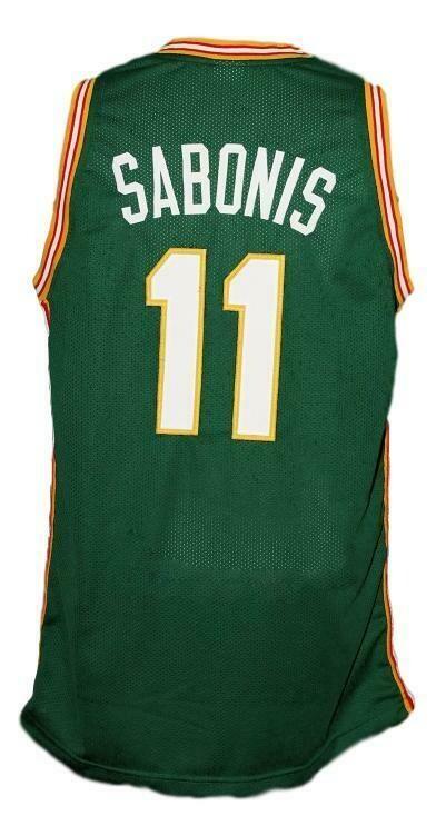 Arvydas Sabonis #11 Lietuva Custom Basketball Jersey New Sewn Green