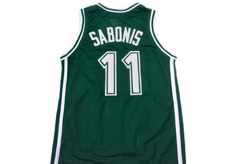 Arvydas Sabonis #11 Zalgiris Kaunas Lithuania Basketball Jersey Green