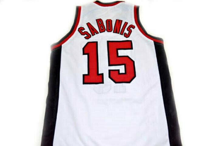 Arvydas Sabonis #15 CCCP Team Russia Basketball Jersey White