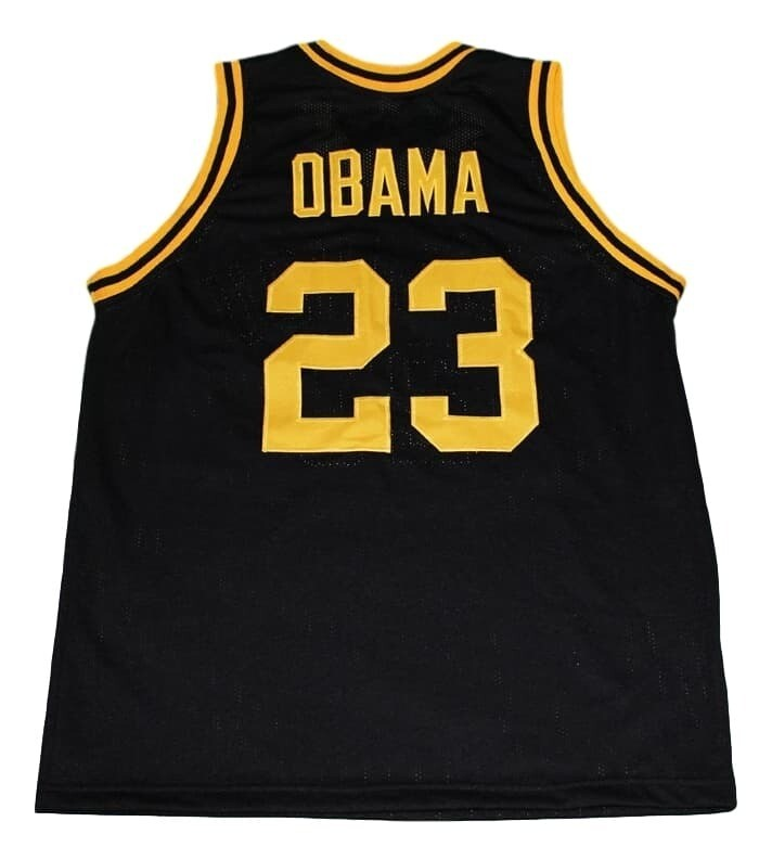 Barack Obama #23 Punahou High School New Basketball Jersey Black