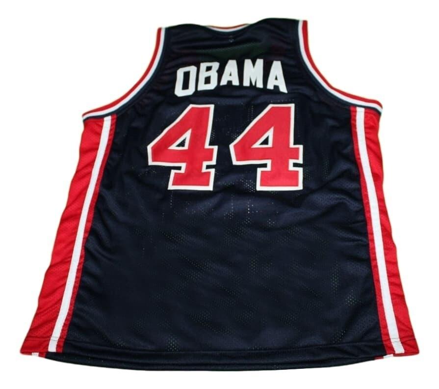 Barack Obama #44 Team USA New Basketball Jersey Navy Blue