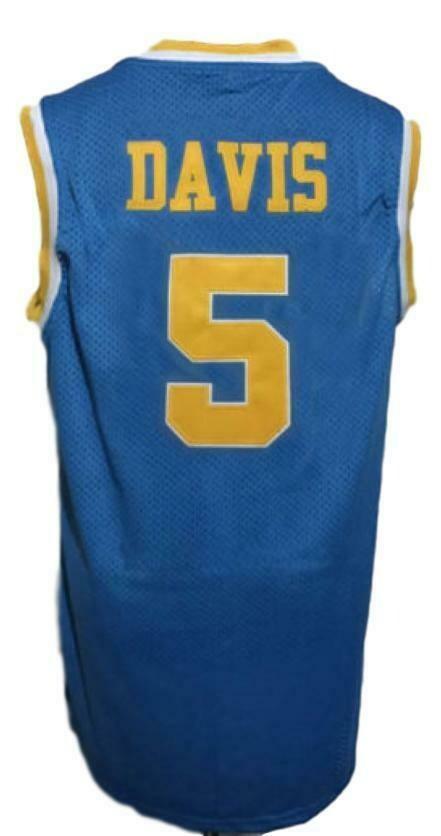 Baron Davis #5 Custom College Basketball Jersey New Sewn Blue