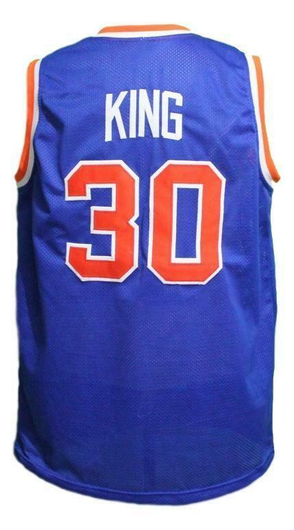 Bernard King #30 New York Basketball Jersey Sewn Blue