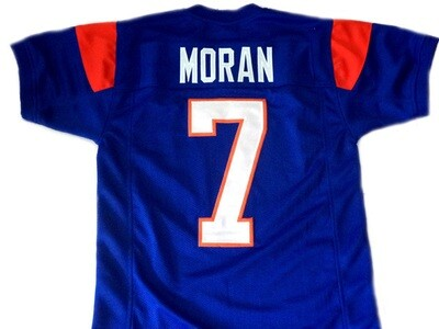 Alex Moran #7 Blue Mountain State Football Jersey Blue
