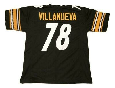 Alejandro Villanueva CUSTOM STITCHED Unsigned Football Black Jersey